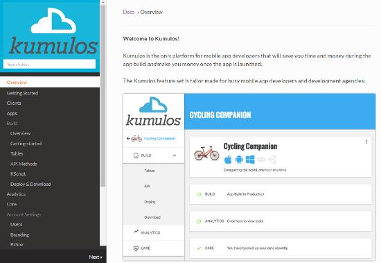 Kumulos Docs Site
