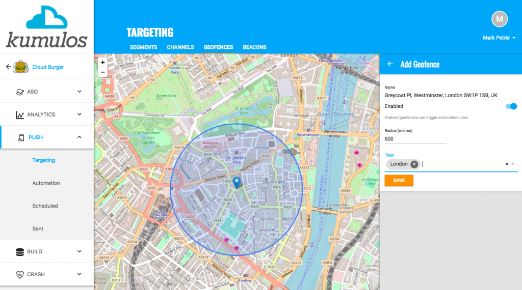 Geofencing and Beacons - Geofence