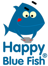 happy blue fish company logo