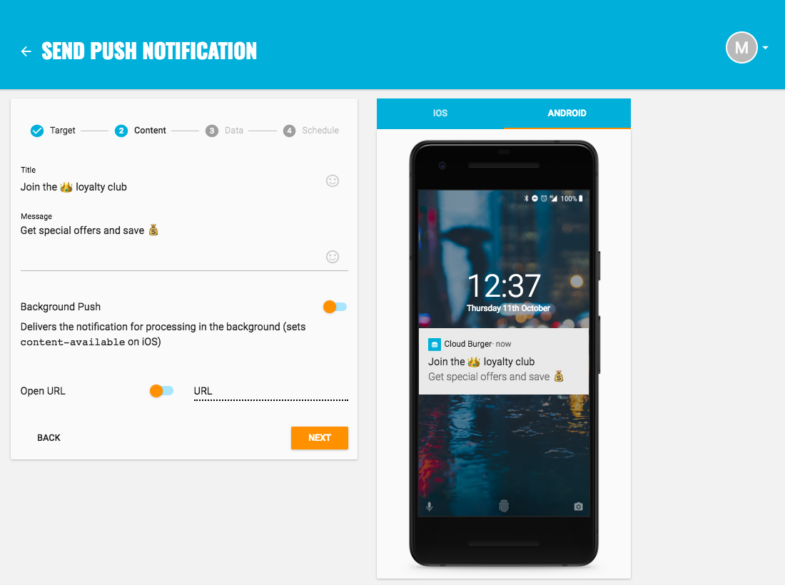 Increase retention with push notifications - compose