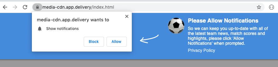 Web push overlay example