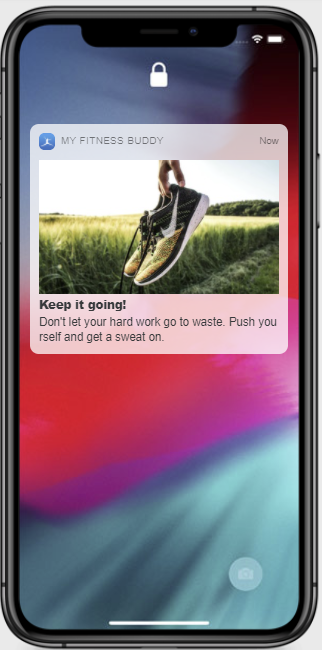 Exercise notification on iphone
