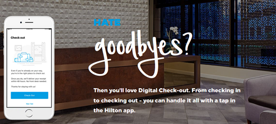 digital hotel check-out