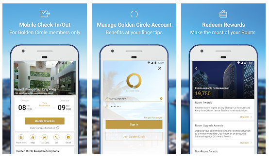 shangri-la hotel in-app payments