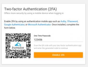 2 factor authenticate