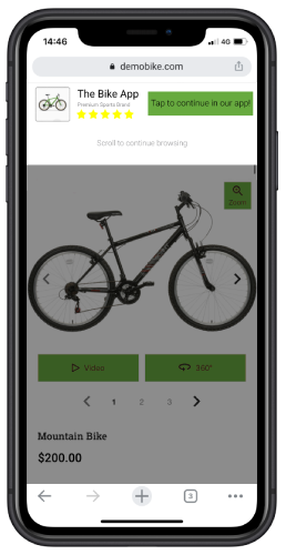 web-to-app banner